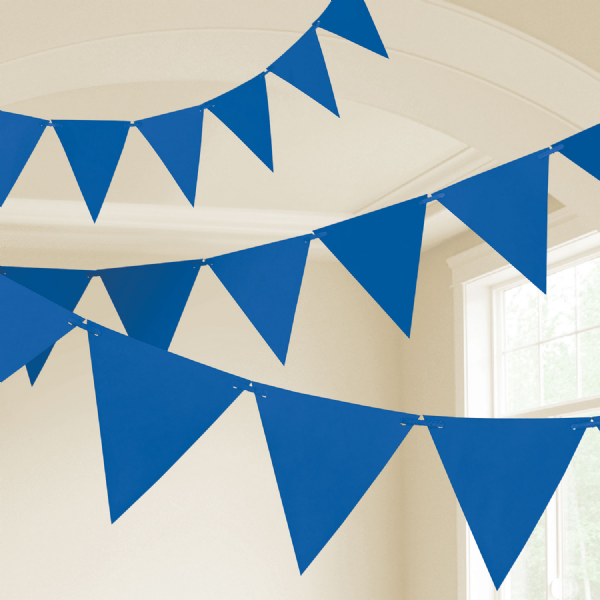 Bright Royal Blue Plastic Pennants